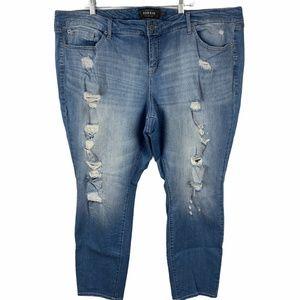 Torrid Premium Distressed Denim Jeans size 26R